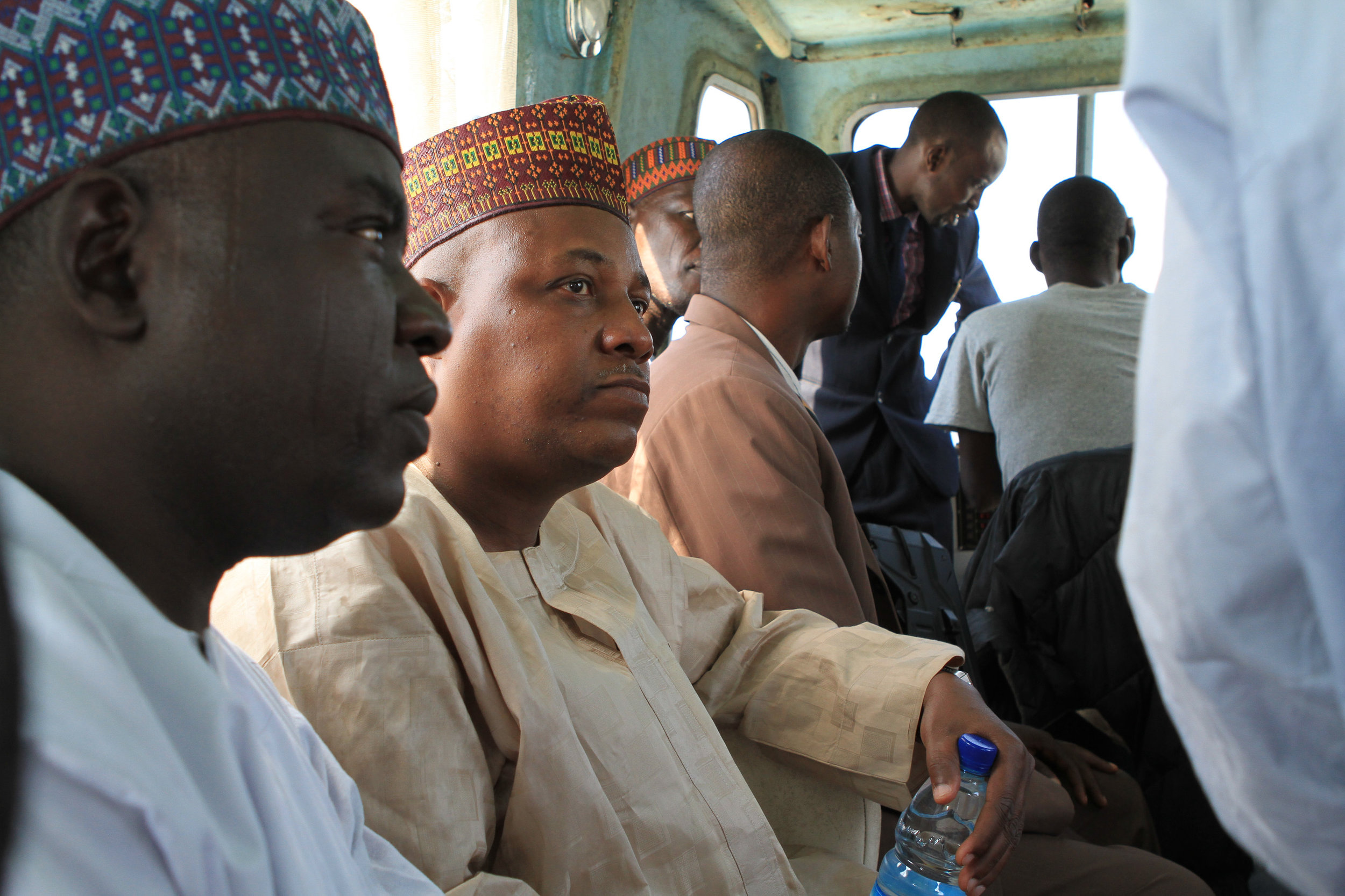 The man in brown was the health minister at the time. Then, he became the Governor of Borno State. He was a really nice man.