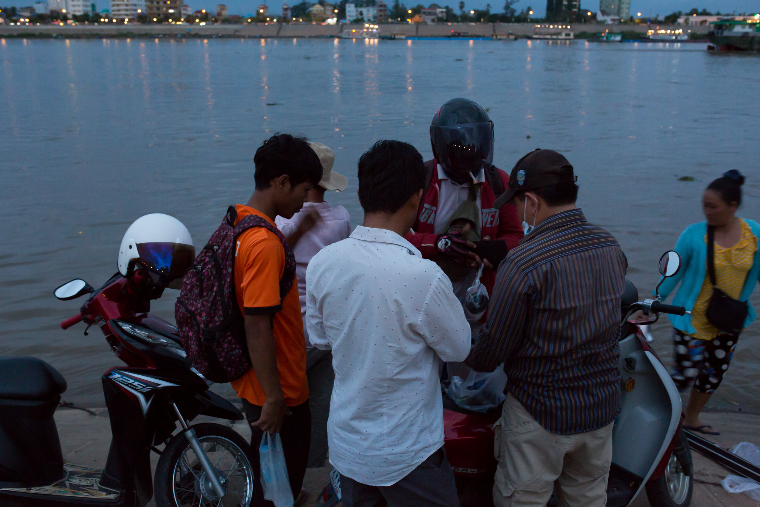 Transgender women may not feel safe on the Mekong River at night when groups of men gather and drink together.