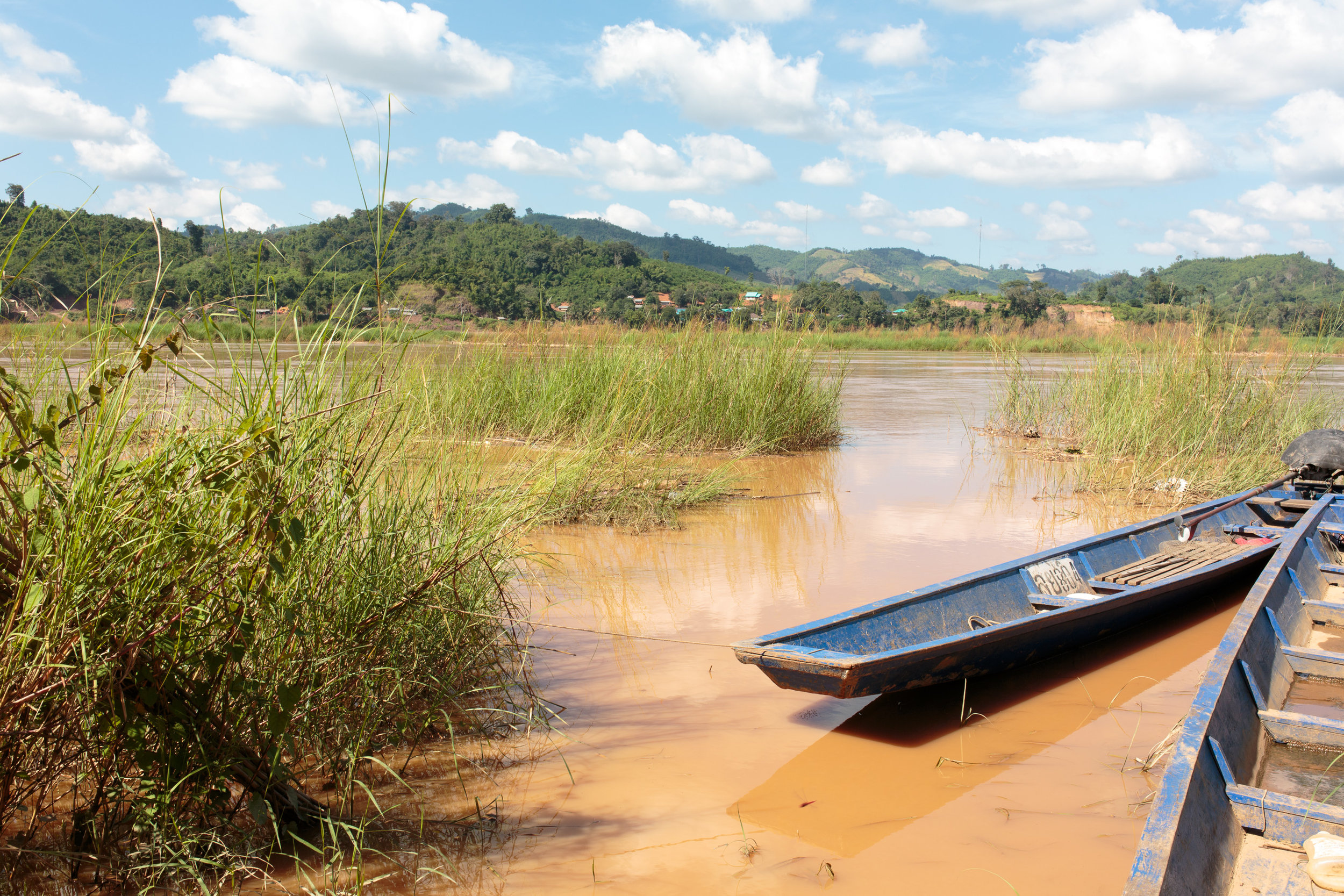 The Mekong River flowing through Loei Province.