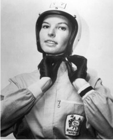 A former aerospace engineer, Guthrie quit her job to begin race car driving full time. In 1977, at the age of 39, Guthrie became the first woman to qualify and compete in both the Indianapolis 500 and Daytona 500. Her sixth place finish at the Daytona 500 is tied with Danica Patrick for best finish by a woman in a NASCAR race. One of the first female athletes to be inducted to the International Women's Sports Hall of Fame, Guthrie's helmet and race uniform live in the Smithsonian Institution.