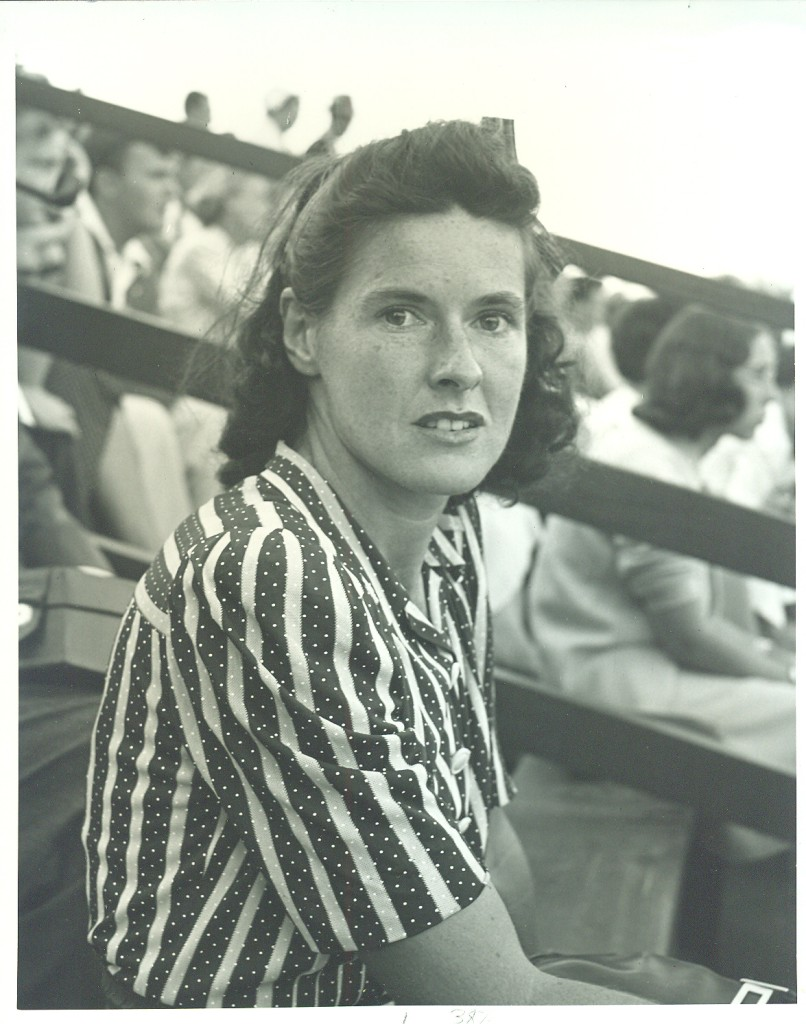 In 1945 she almost became the only woman to win a championship in men's doubles. Because of the shortage of male players during World War II, she and her husband, Elwood Cooke, were allowed to play in the men's doubles event of the Tri-State Championships in Cincinnati.