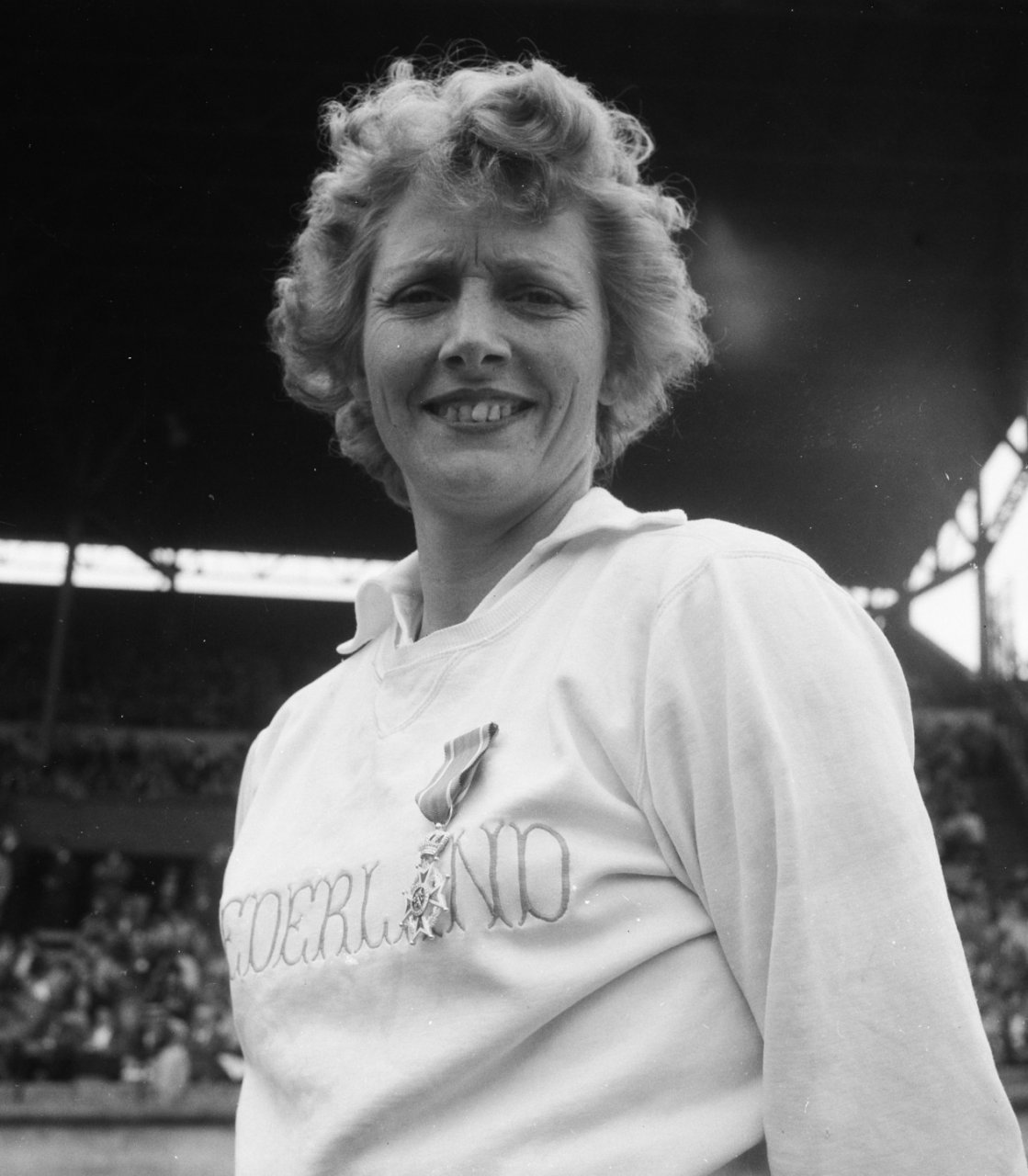 """Dutch housewife and mother of two Blankers-Koen stunned the sporting world when she won four gold medals at the 1948 London Olympics. Taking a defiant stance against sexism and ageism, the 30 year old ignored critics who felt she had no business competing in sport: """"  One newspaperman wrote that I was too old to run, that I should stay at home and take care of my children. When I got to London, I pointed my finger at him and I said: 'I show you  '."""" Blankers-Koen's medal haul earned her the nickname """"the Flying Housewife"""" and remains the largest of any female track and field athlete at a single Olympics. In 1999, she was voted the Top Female Athlete of the 20th Century by the International Amateur Athletic Federation."""