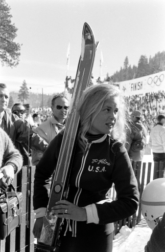 The first American to win an Olympic medal in downhill skiing, Pitou took home two silver medals at the 1960 Olympic Games.  As a high school freshman, Pitou ignored the 'no girls allowed' policy for the school's skiing team, hiding her hair under her helmet and going by the name 'Tommy'.  Pitou made the boys' team, competing in several races until her helmet flew off in a crash, blowing her cover. Pitou continued to train, making the U.S. Olympics Ski Team at 17 and being mentored by fellow American Andrea Mead Lawrence. Following her skiing career, Pitou worked as a fashion consultant in the ski industry and established training schools in New England.  Hilary Clinton has credited Pitou with teaching her to ski. Today, Pitou's eponymous travel agency, Penny Pitou Travel, leads skiing expeditions and tours throughout Europe.