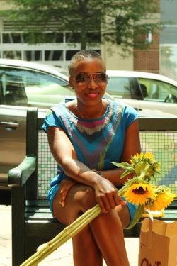 Jazzy, enjoying a sunny day in Silver Spring, Maryland. copyright Will Allen-DuPraw 2014