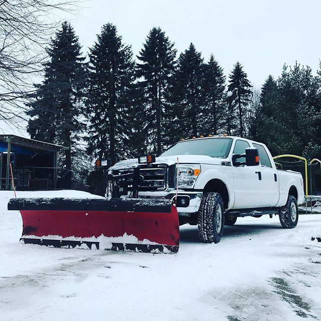 It's that time again. #winter in #michigan #clarkston #snow #plow