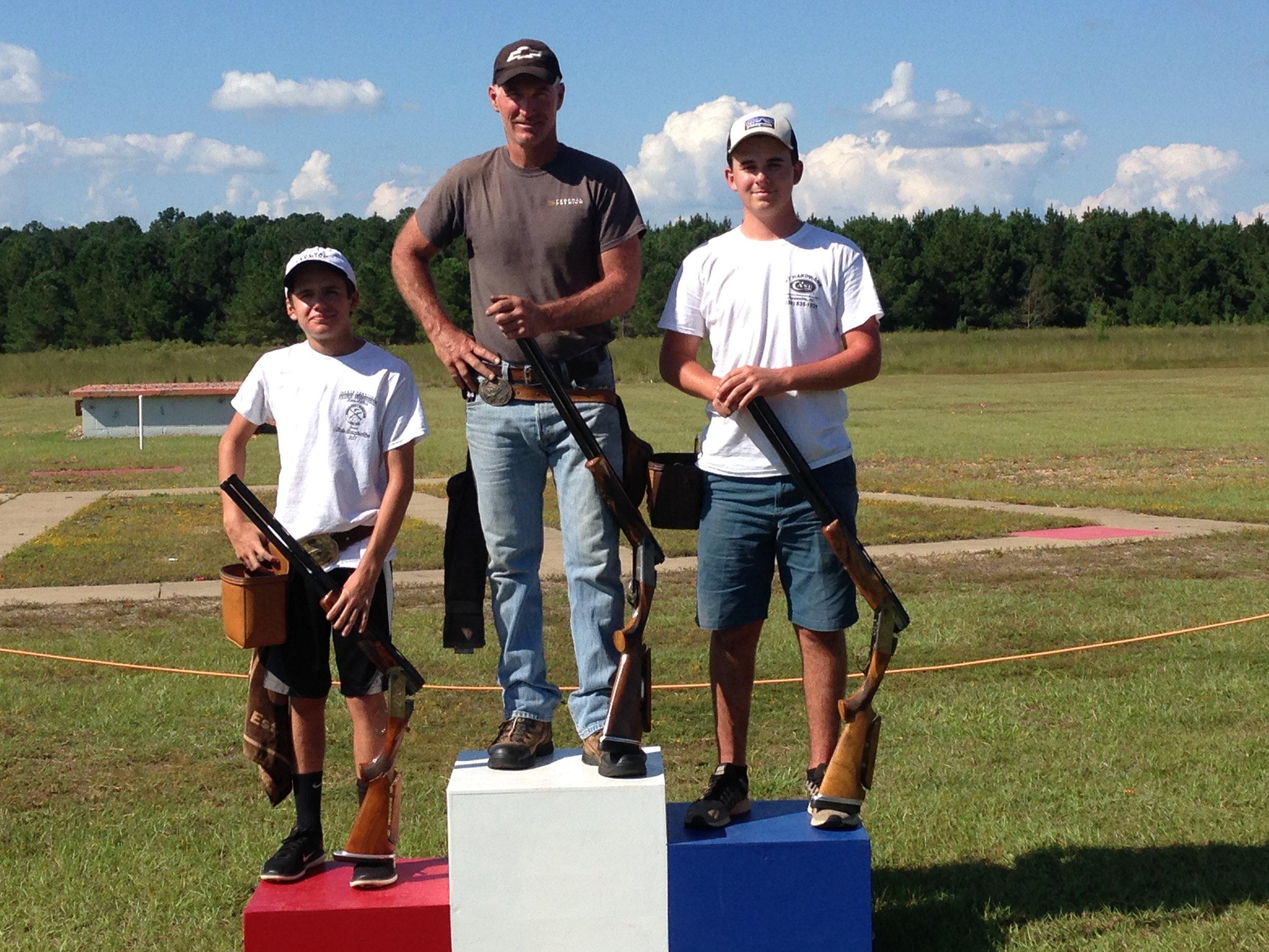 28 ga winners: Champion - Stuart Brown (100), Runner-up - Riley Dellinger (100), and 3rd - Grayson Williams (100).