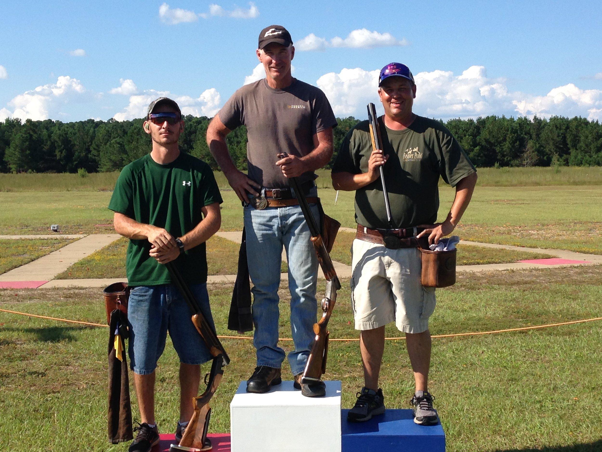 .410 winners: Champion - Stuart Brown (99), Runner-up - Craig Kirkman (98), and 3rd - Kevin Hostinsky (98).