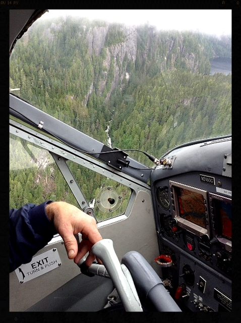 Cockpit of floatplane