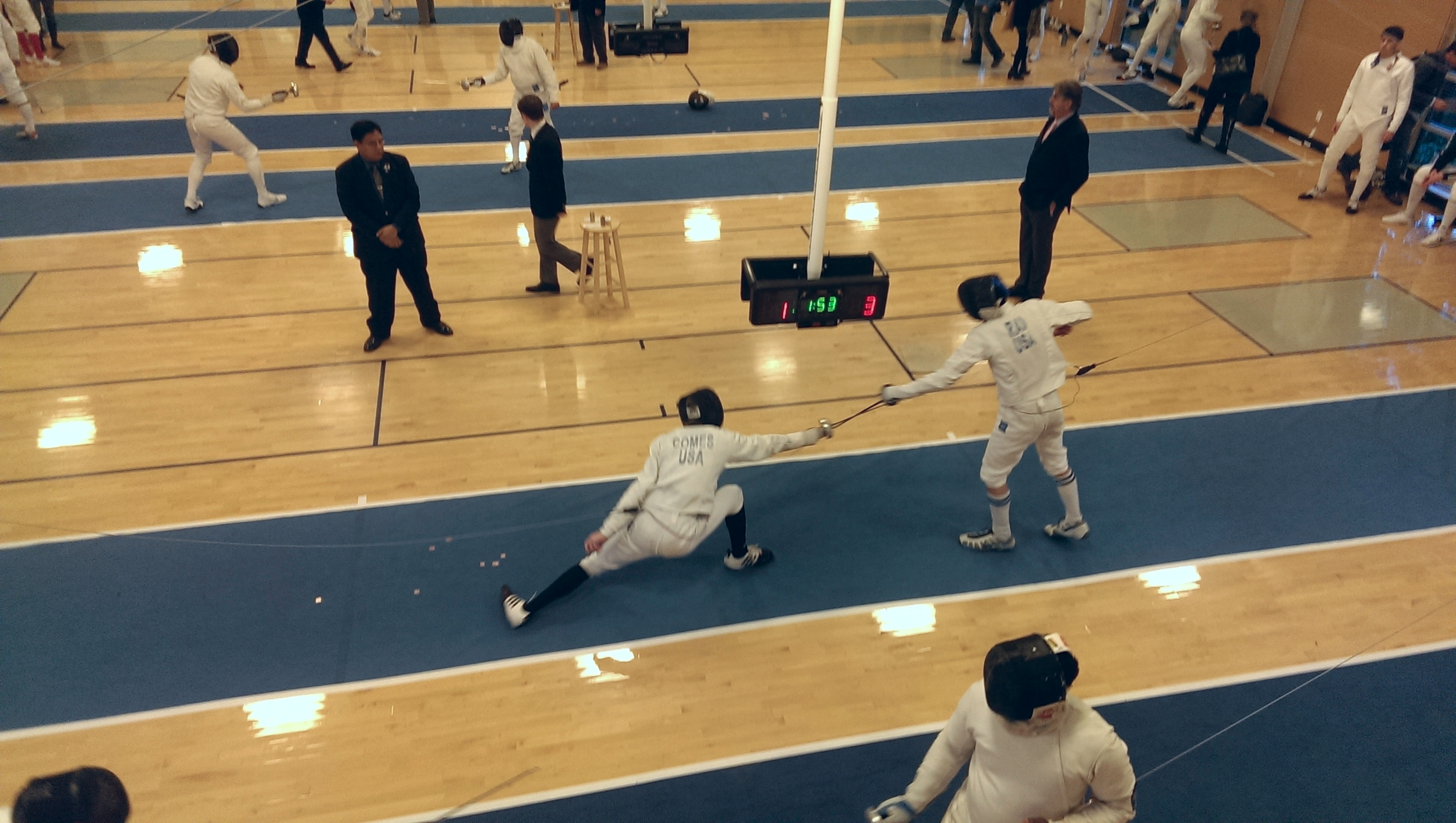 WFA fencer Matthew Comes fences in the Battle in Seattle men's epee event.  Click here  for full results from the entire event.