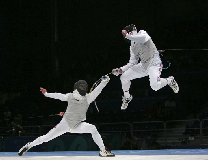 Fencing at the Athens 2004 Summer Olympic Games. Photo copyright by WFA's Serge Timacheff.