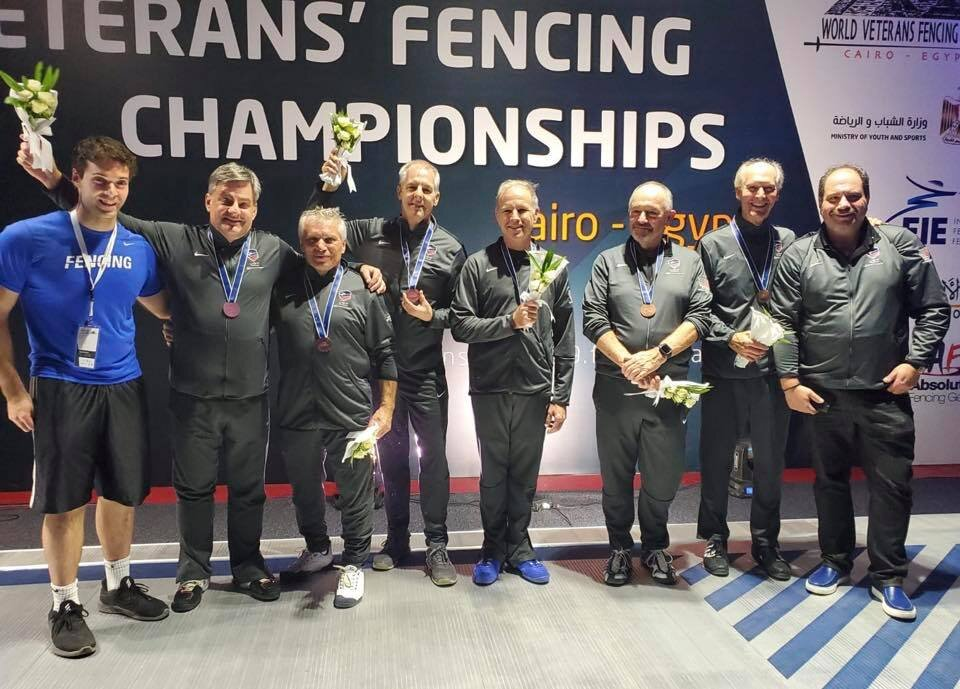 Mens' Veteran Saber Team:  Team USA