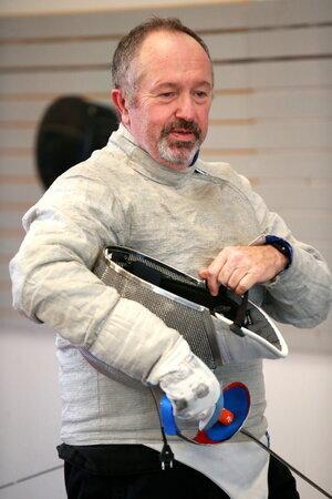World bronze medalist and WFA saber fencer Jeff Gueble.