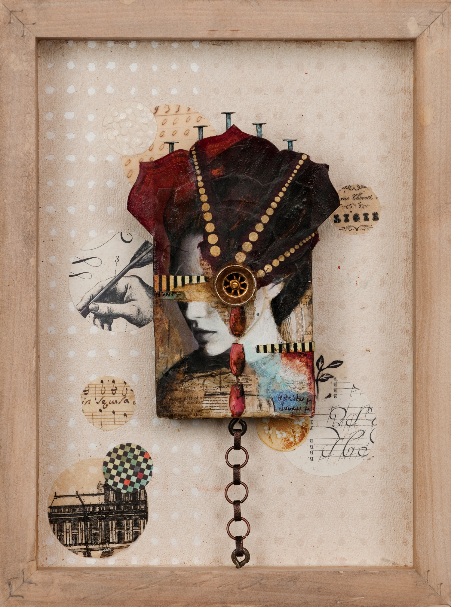 Mixed Media on Wood  Sold