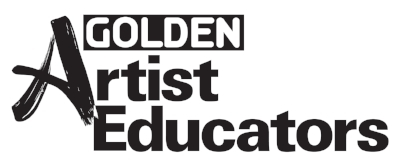 "As a Golden Artist Educator, Andrea takes pride in combining her geeky nature with lots of experimentation while ensuring she is following ""best practices"" both in the studio and in the classroom."