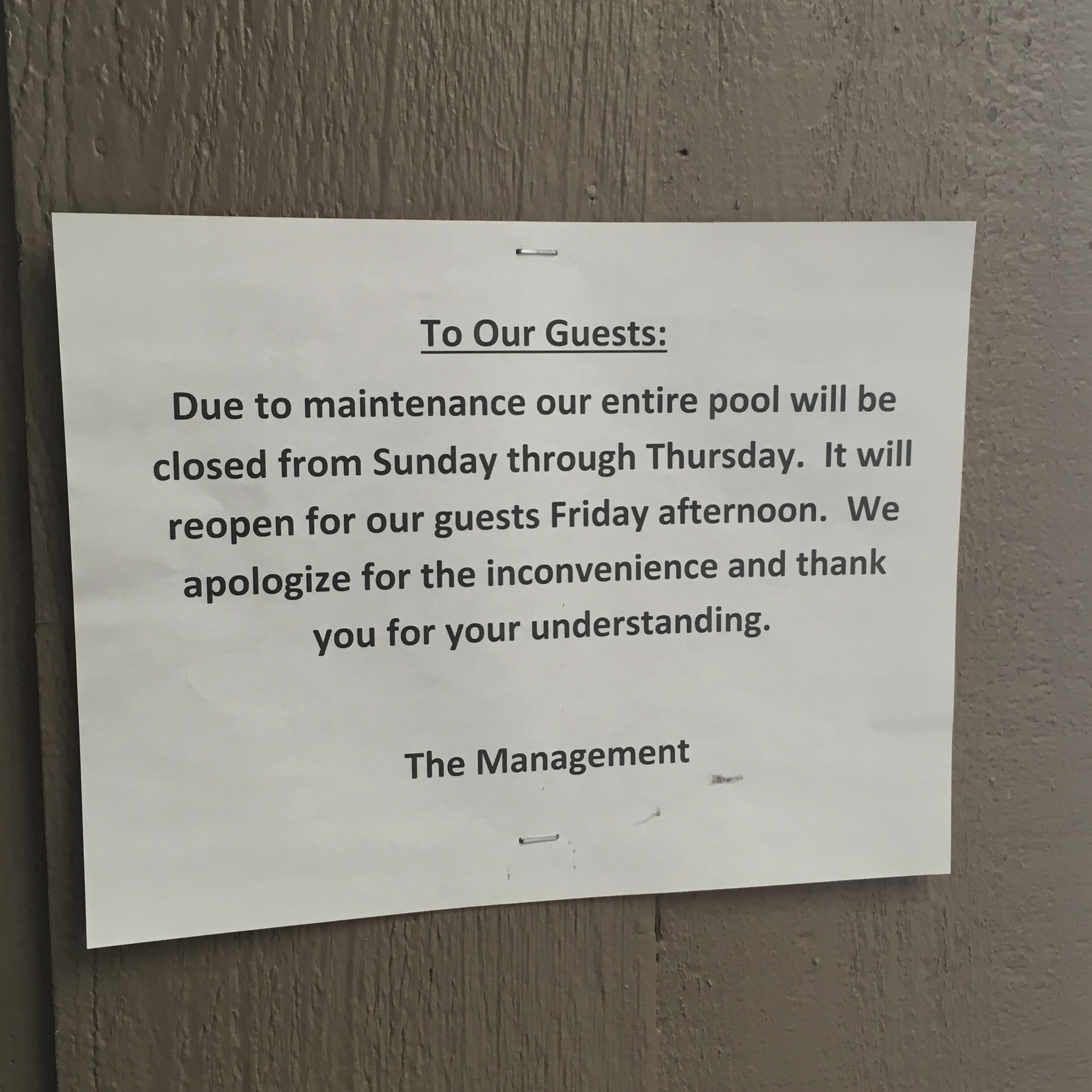 Stupid hotel.
