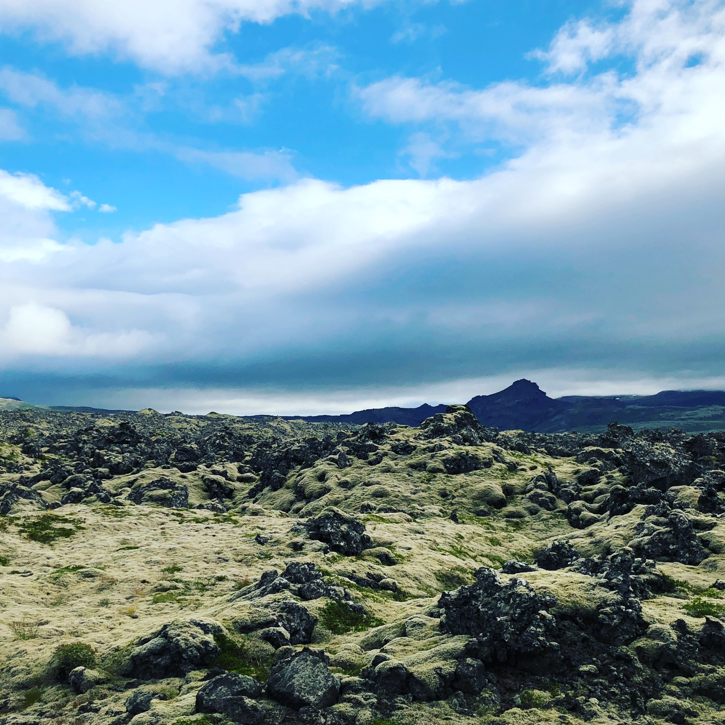 Somewhere in Iceland! Volcanic rocks and stuff!