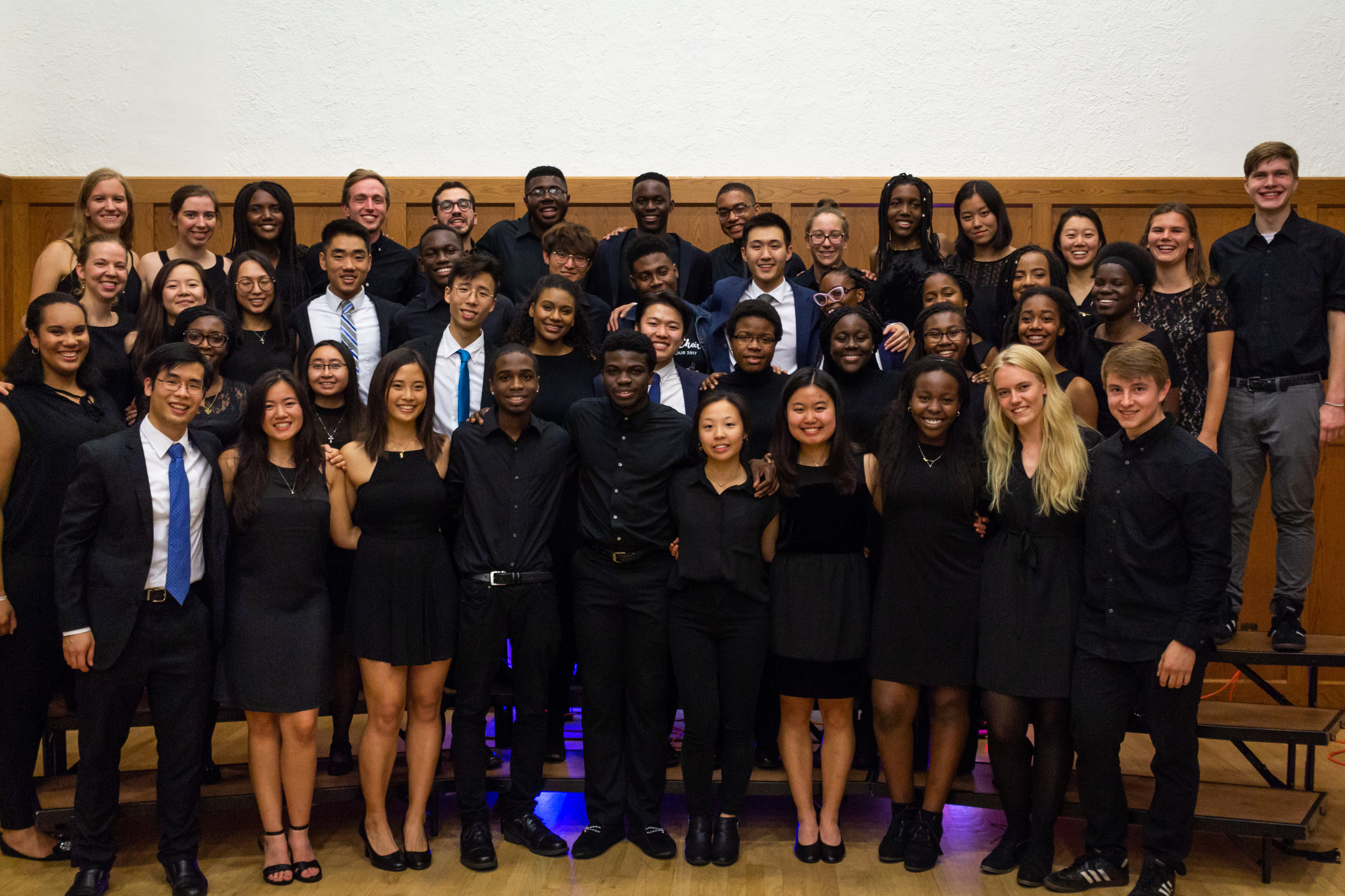 YGC performing with Yale's Christian a cappella group, Living Water