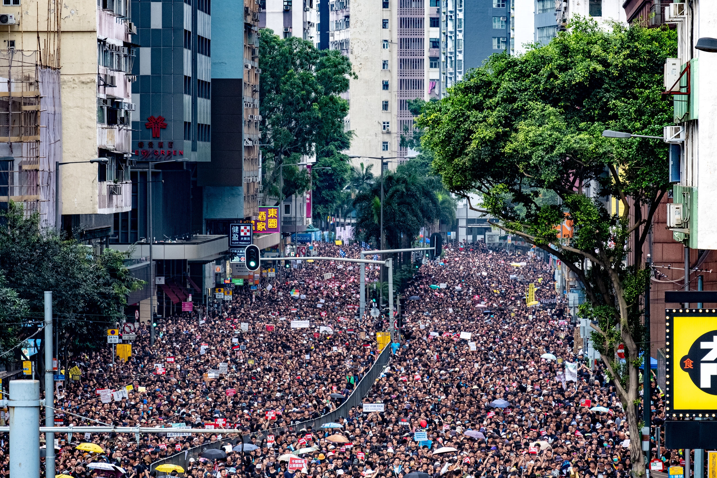 Two-million strong anti-extradition bill march - June 16, 2019