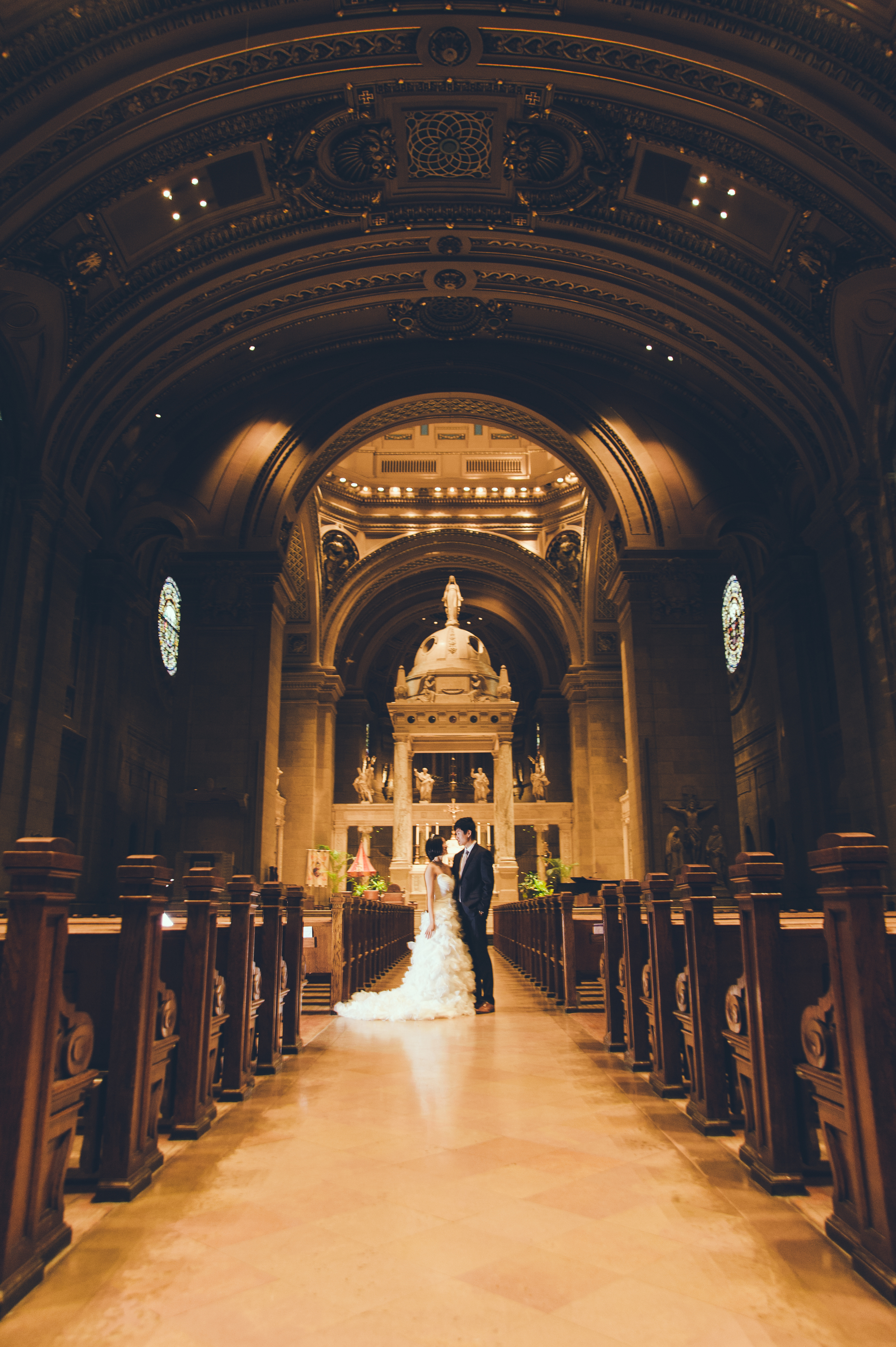 Ray and Grace at the Basilica of Saint Mary in Minneapolis
