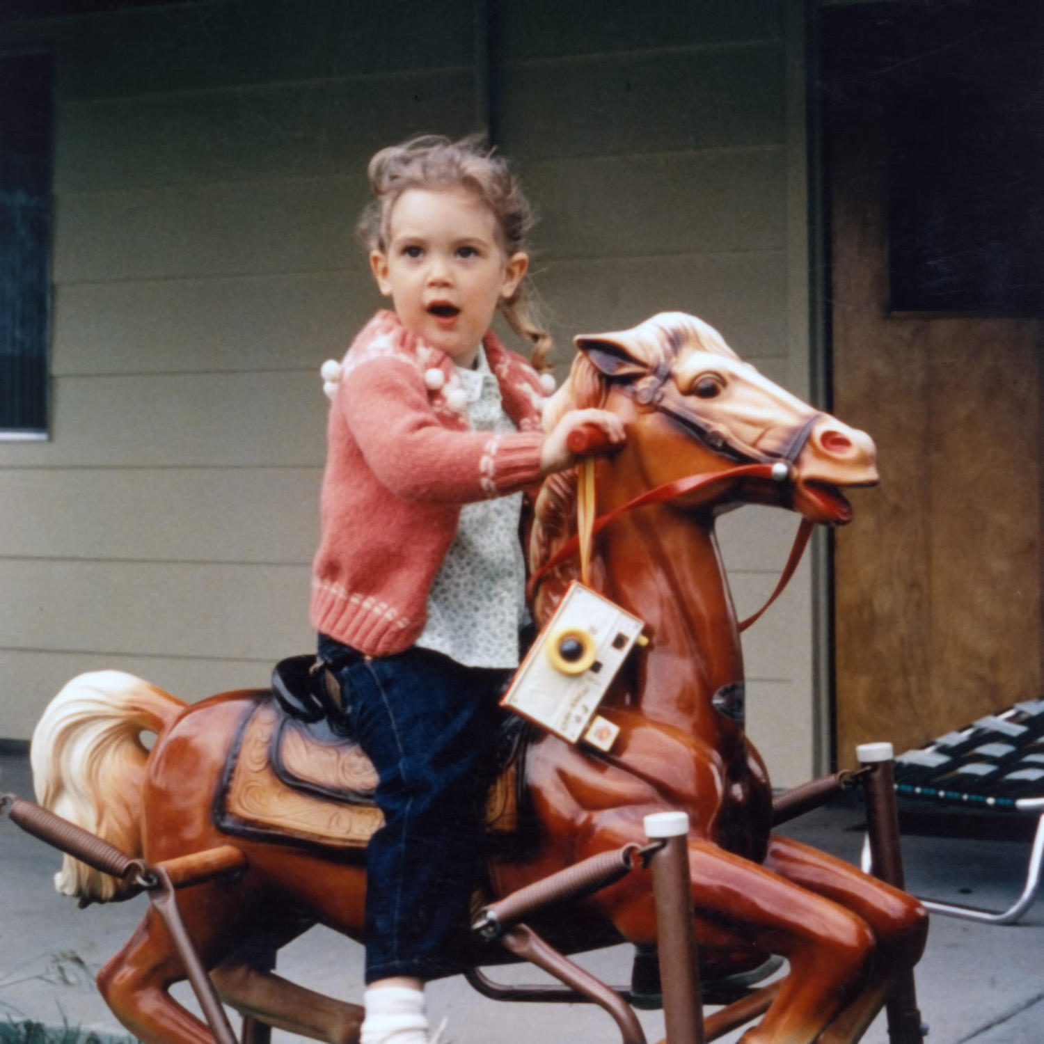 My first camera. Also, my first horse. And my only horse.