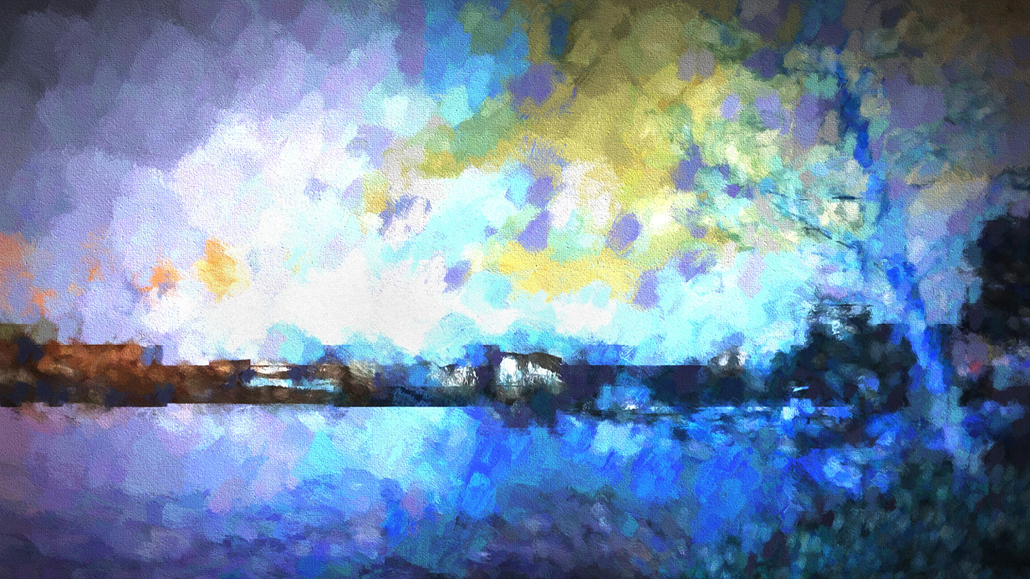 Chelan Winter Impression. Available both as a panoramic print or the two individual images (below).
