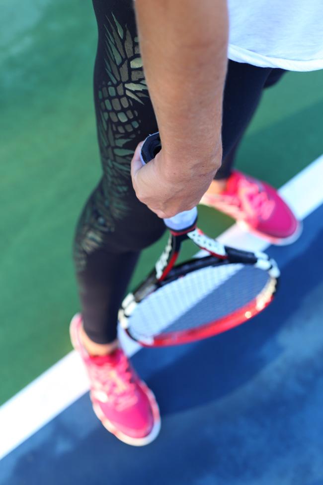 Top + Pants + Sports Bra:  Lululemon , Shoes:  Adidas