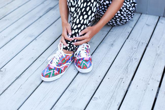 Top + Pants:  Ava Sky Hawai i, Shoes:  Parcel & Journey