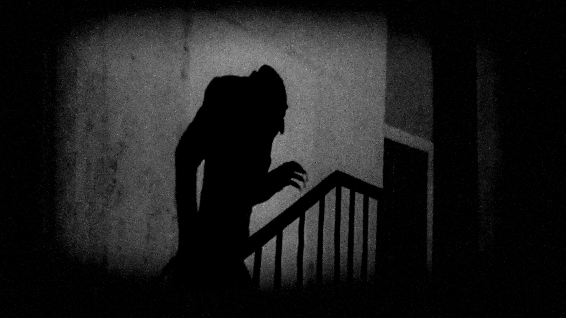 """A still from Murnau's Nosferatu. I explore the importance of the shadow in the essay, """"Nosferatu as 20th Century German Zeitgeist"""", by Anders Larsson."""
