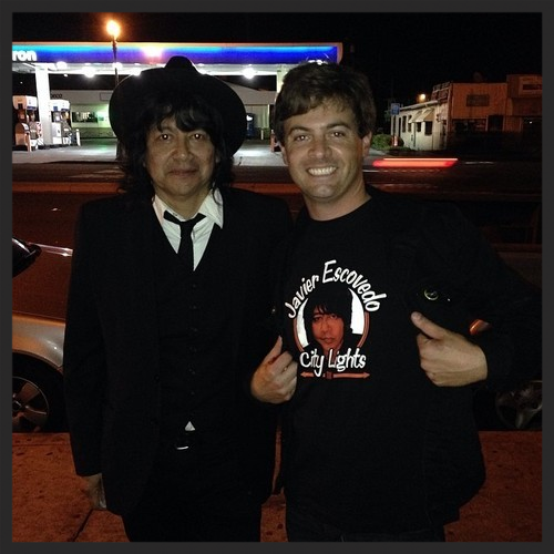 Javier Escovedo and Anders Larsson. Post-show in San Diego, CA. 2014