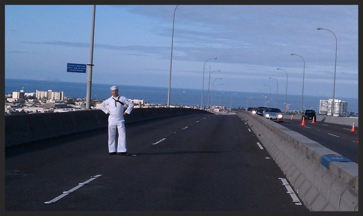 The road from service to student and homeowner can be a rough one, even with the G.I. Bill and VA Home Loan. Here I am on the Coronado Bridge, working for Navy Band Southwest in San Diego, CA.