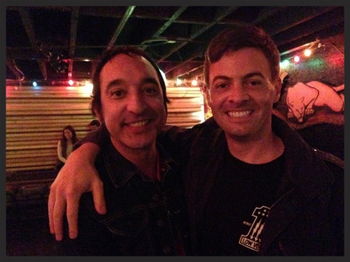 Stevie Rodriguez with me at the Casbah in 2013.
