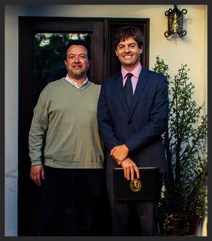 Dr. William Nericcio, head of SDSU's MALAS program, and Anders Larsson in 2014