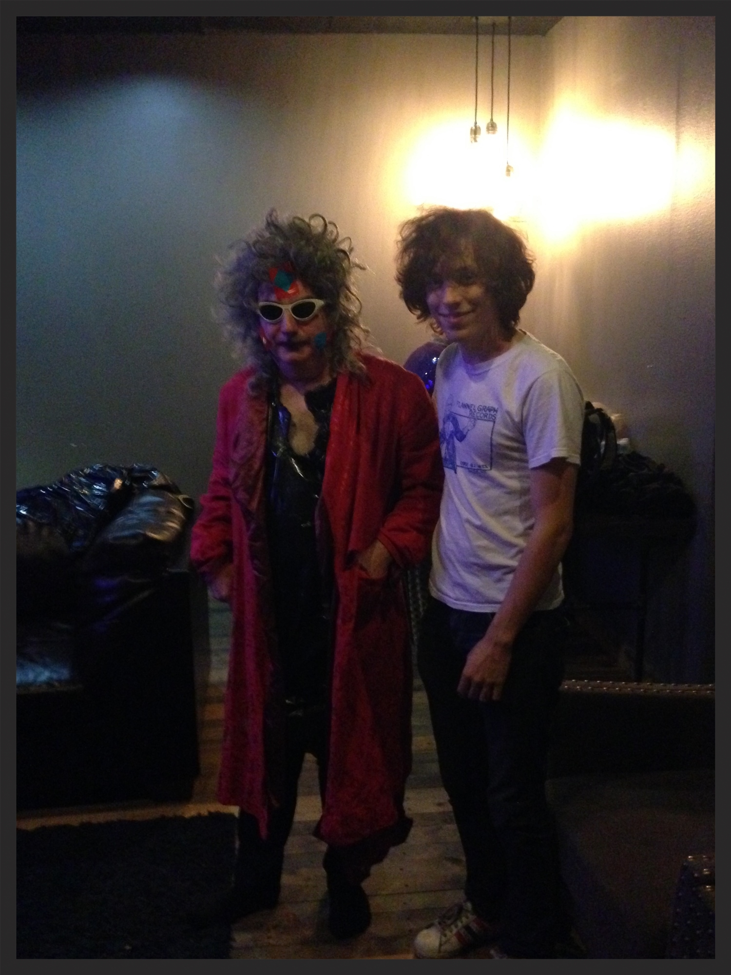 Gary Wilson and Rado from Foxygen, backstage at the Observatory.
