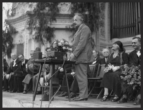 Albert Einstein at the Organ Pavilion in 1931