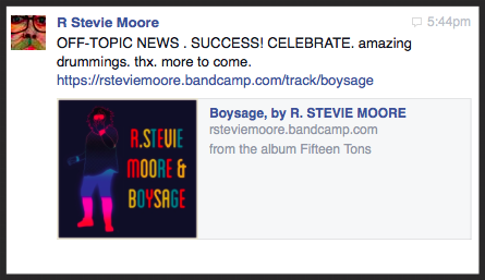 A thrilling message from Mr. Moore, to say the least!