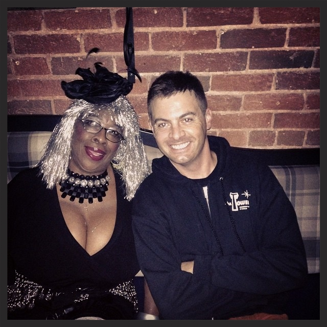 Lady Dottie and Me in 2014. Always a privilege to back up San Diego's number one rock 'n roll diva!