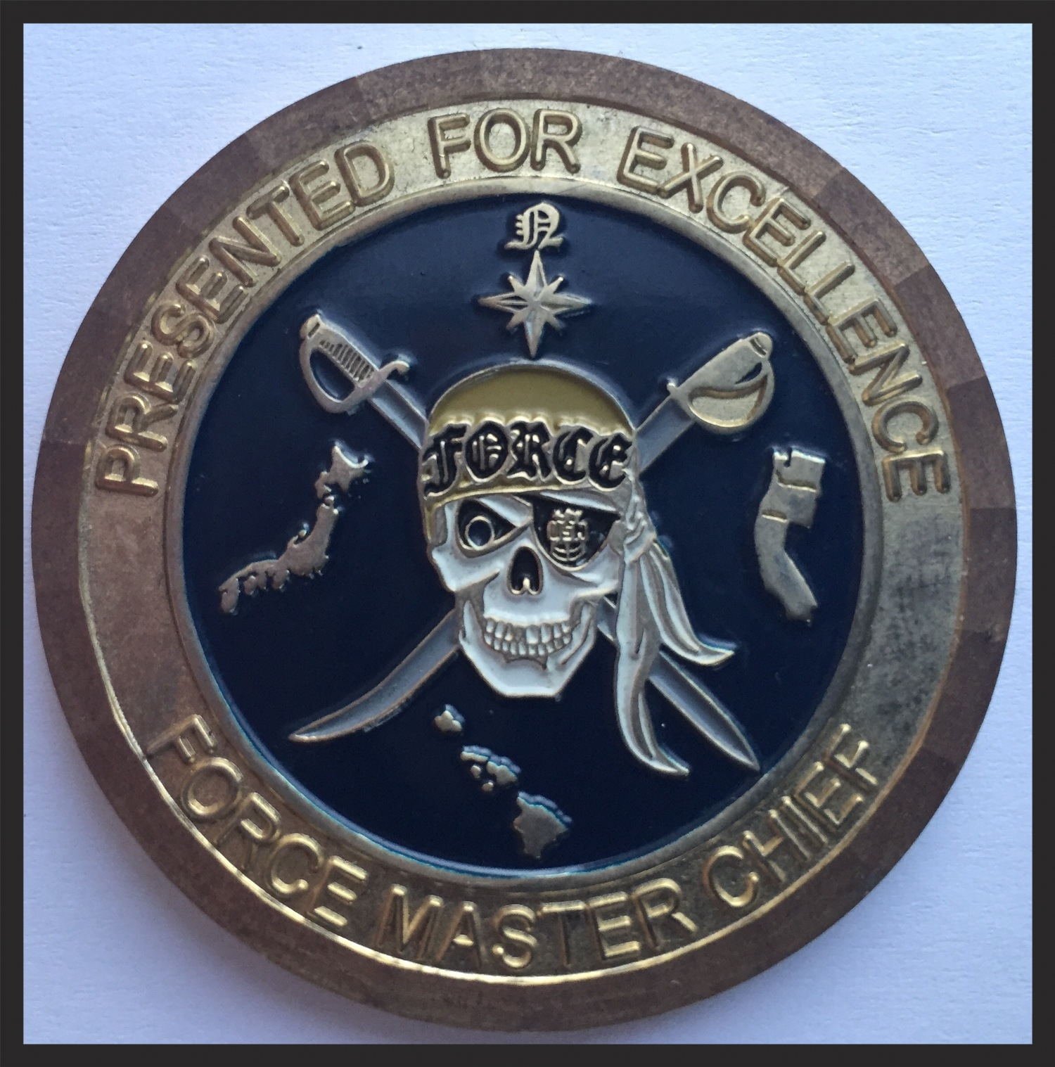 A Pirate motif, reminding us that at the end of the day, the U.S.Navy is just downright cool a lot of times.