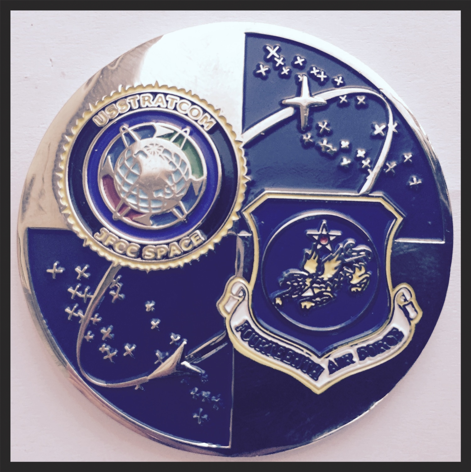 I received this from an  Air Force Command Chief Master Sergeantat the  Vandenberg  base in California. I remember the evening distinctly, since I also had the privilege of meeting two astronauts.