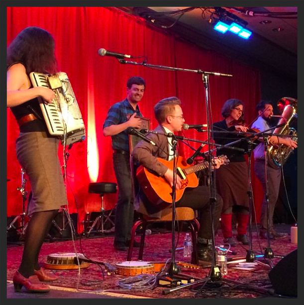 Our Wintergrass 2015set in the Cedar Room. Photo courtesy West Coast Country Music Fest