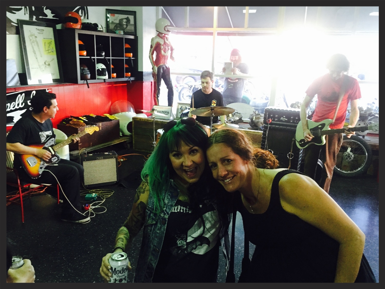 Two Thirds of San Diego punk band  Poontang Clam  ( Tasha Parker ,  Dannielle Cobb ) joined the festivities. Dannielle is also the proprietor of Puss in Boots Vintage, located next door to Trophy