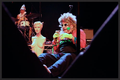 Performing with Gary Wilson at the Observatory in 2014, opening for Foxygen. Photo by Cortney Armitage