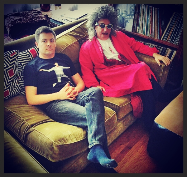 At home, relaxing with Gary Wilson. Photo: Galina Betker, 2015