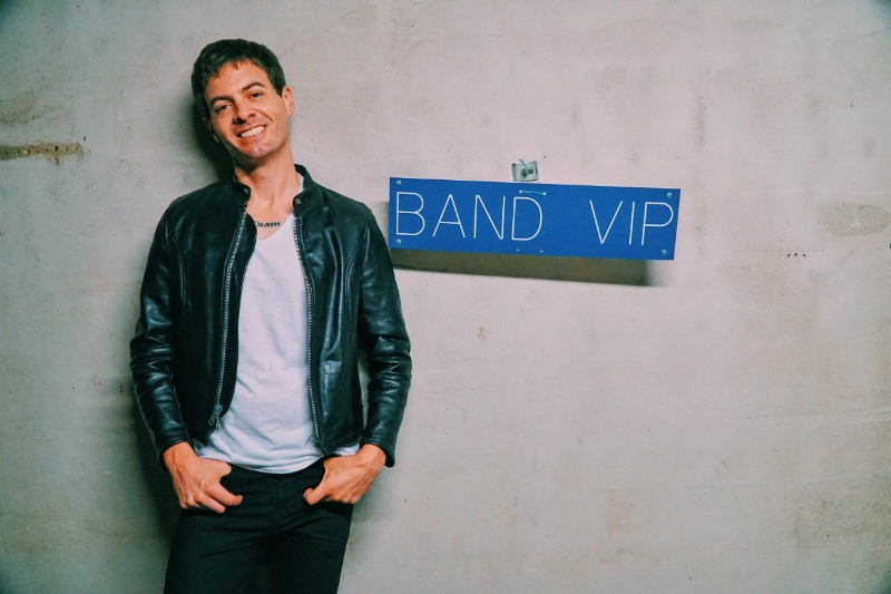 'cause EVERY drummer is a band VIP, no? Photo: Nick Lane, 2016