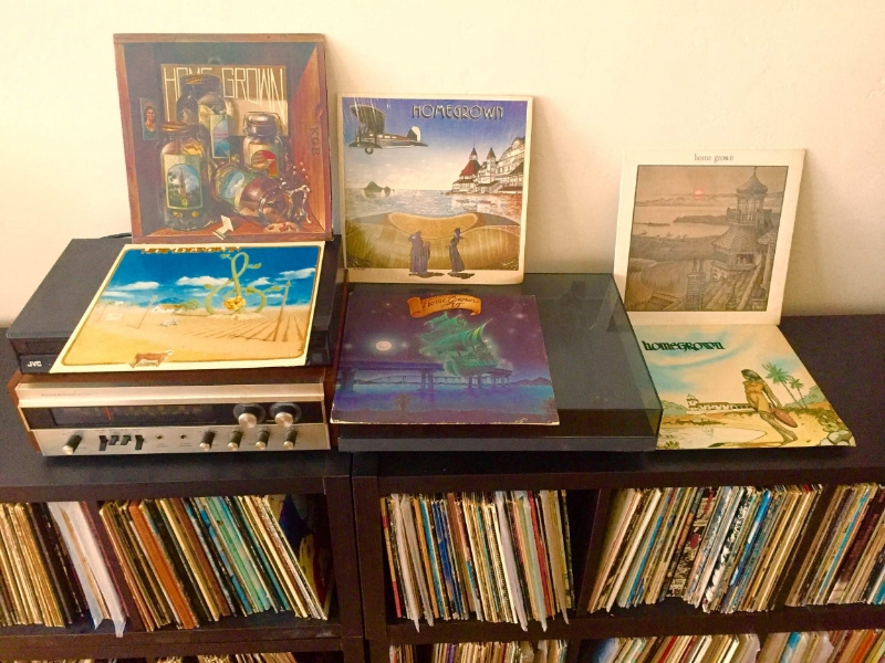 The first five installments of Home Grown (which belonged to my dad, an avid record collector), in my personal LP library