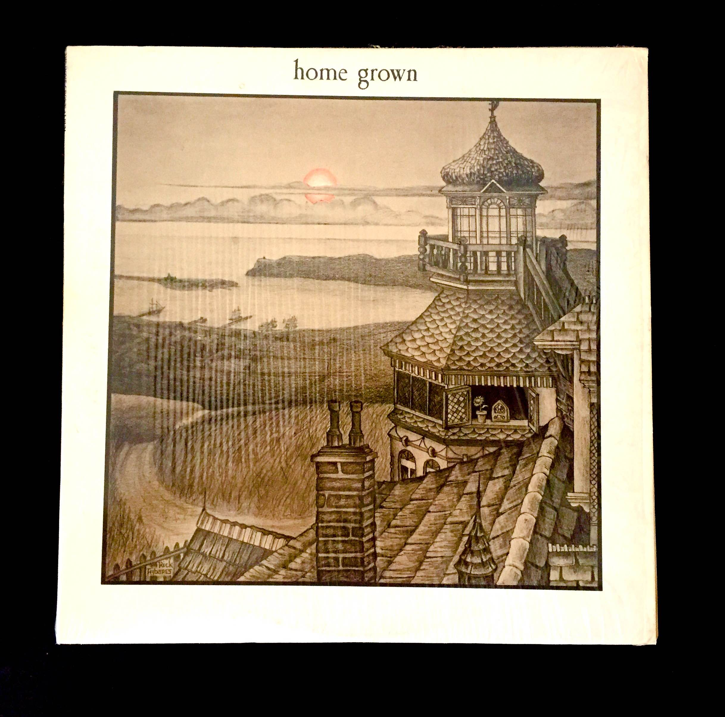 The rather subdued, but attractive cover of the first Home Grown LP, 1973