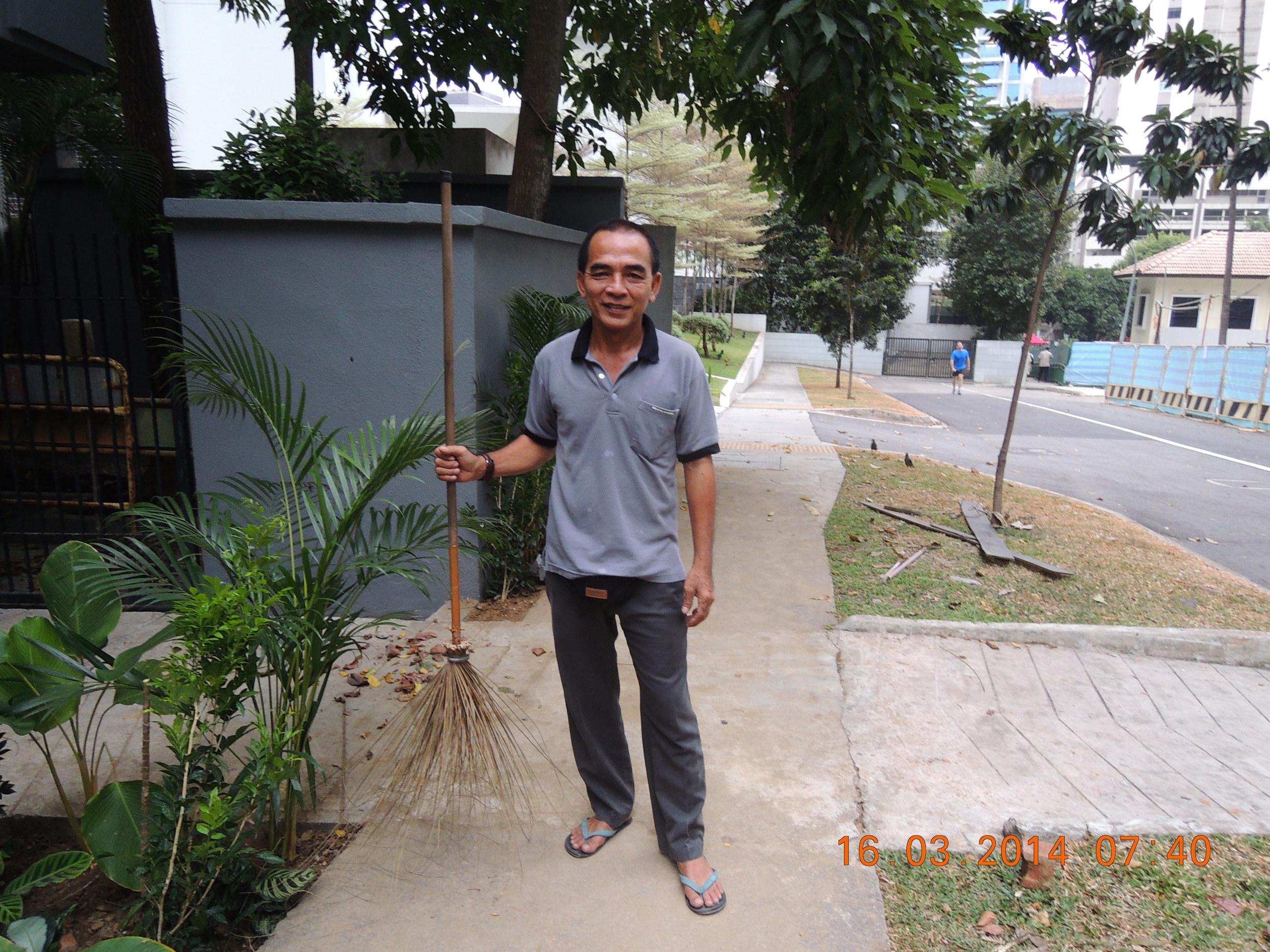 Razzah and his broom.