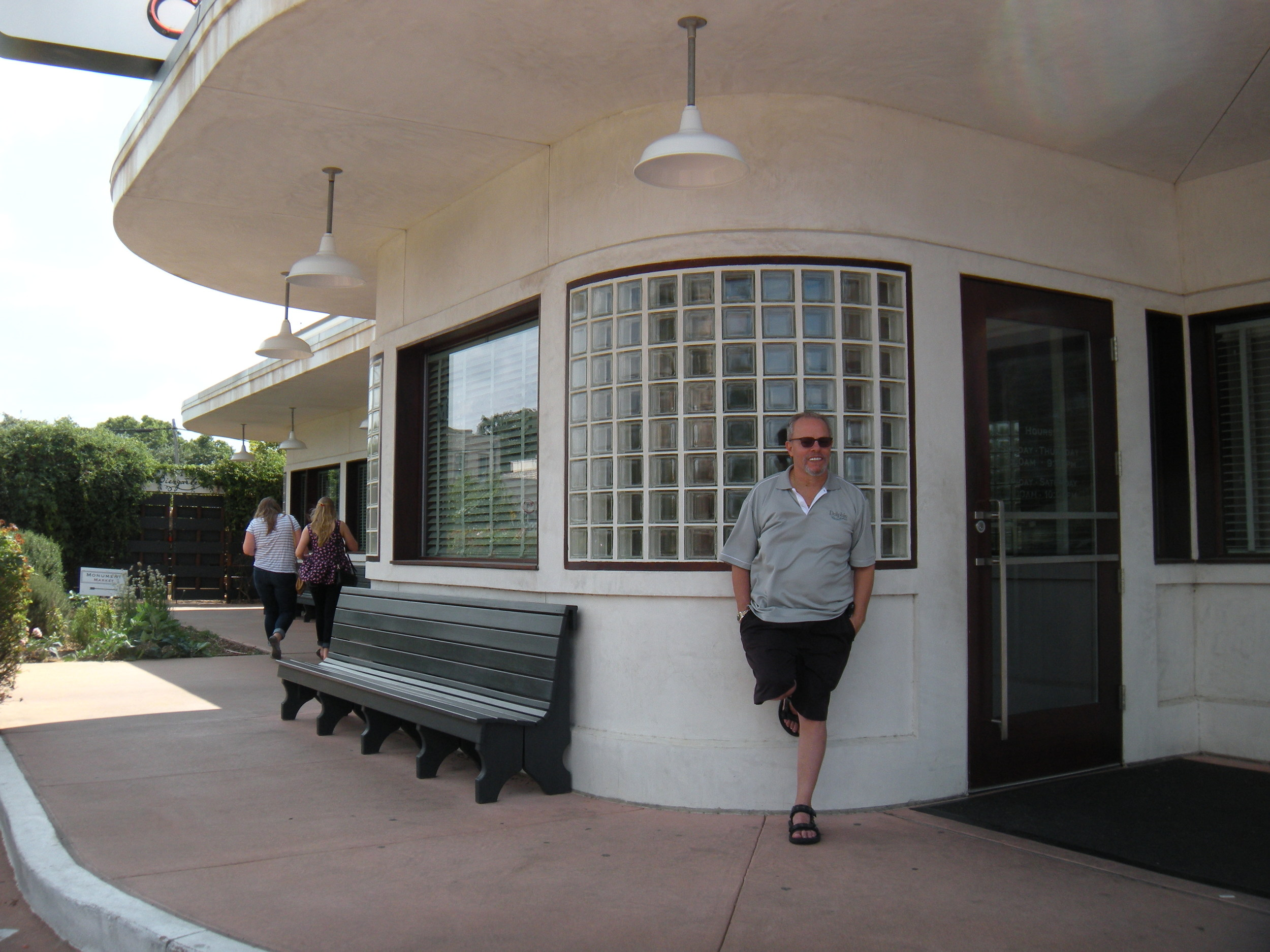 David waits for me at the Monument Cafe in Georgetown.
