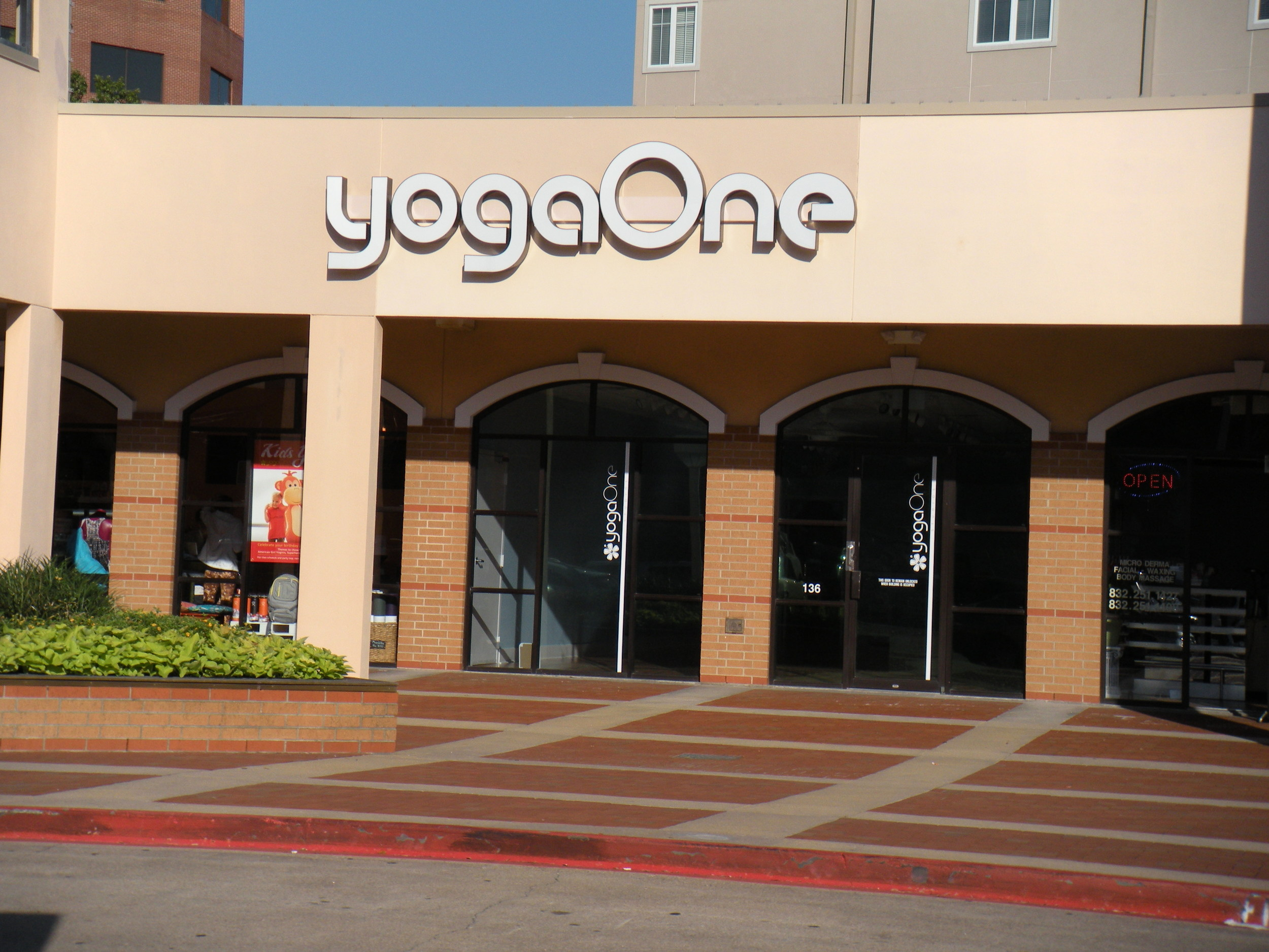 Here's the yoga studio, at Bering and Woodway.
