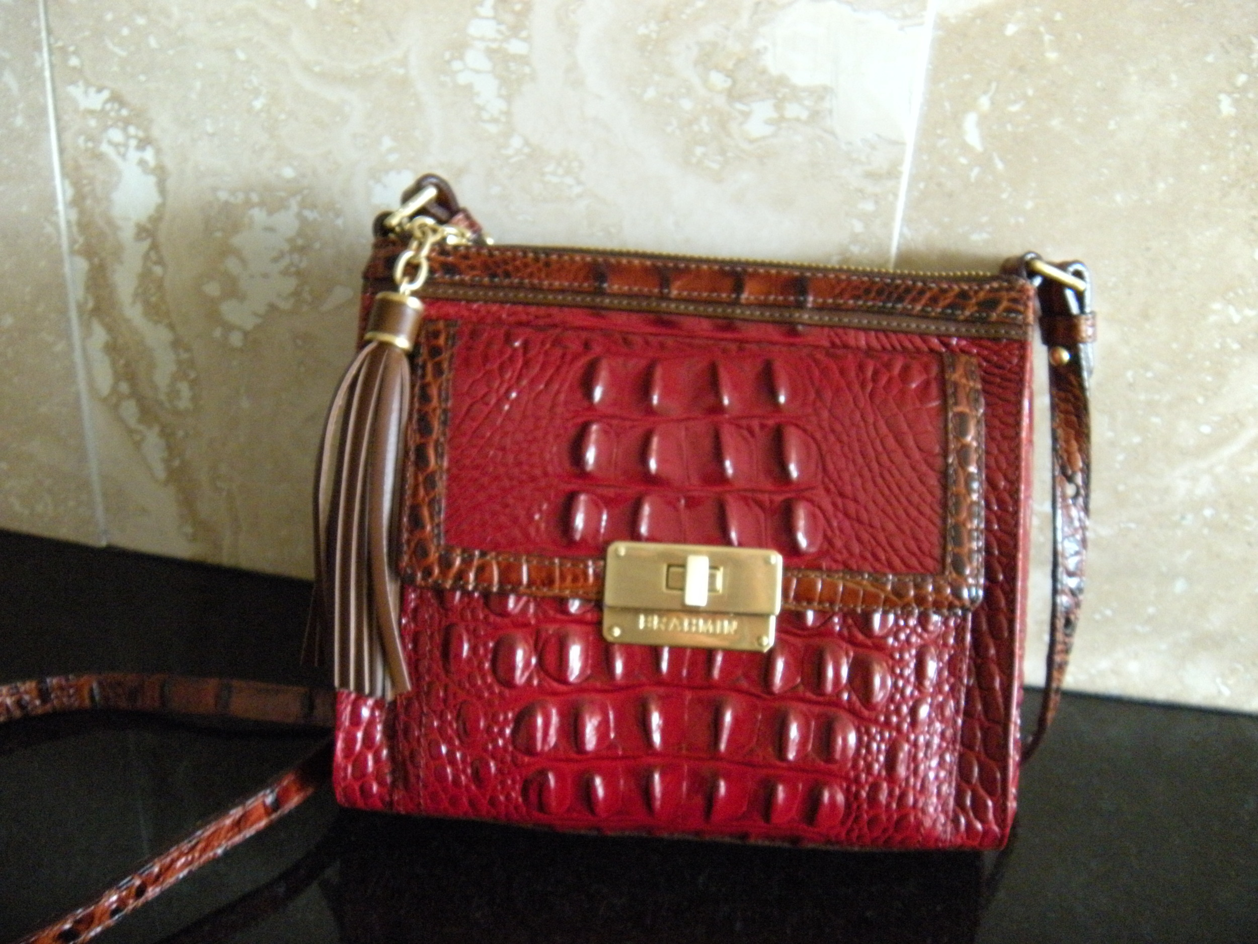 For those who haven't seen it in person, this is my new purse, which David got me for Christmas. Isn't it beautiful?