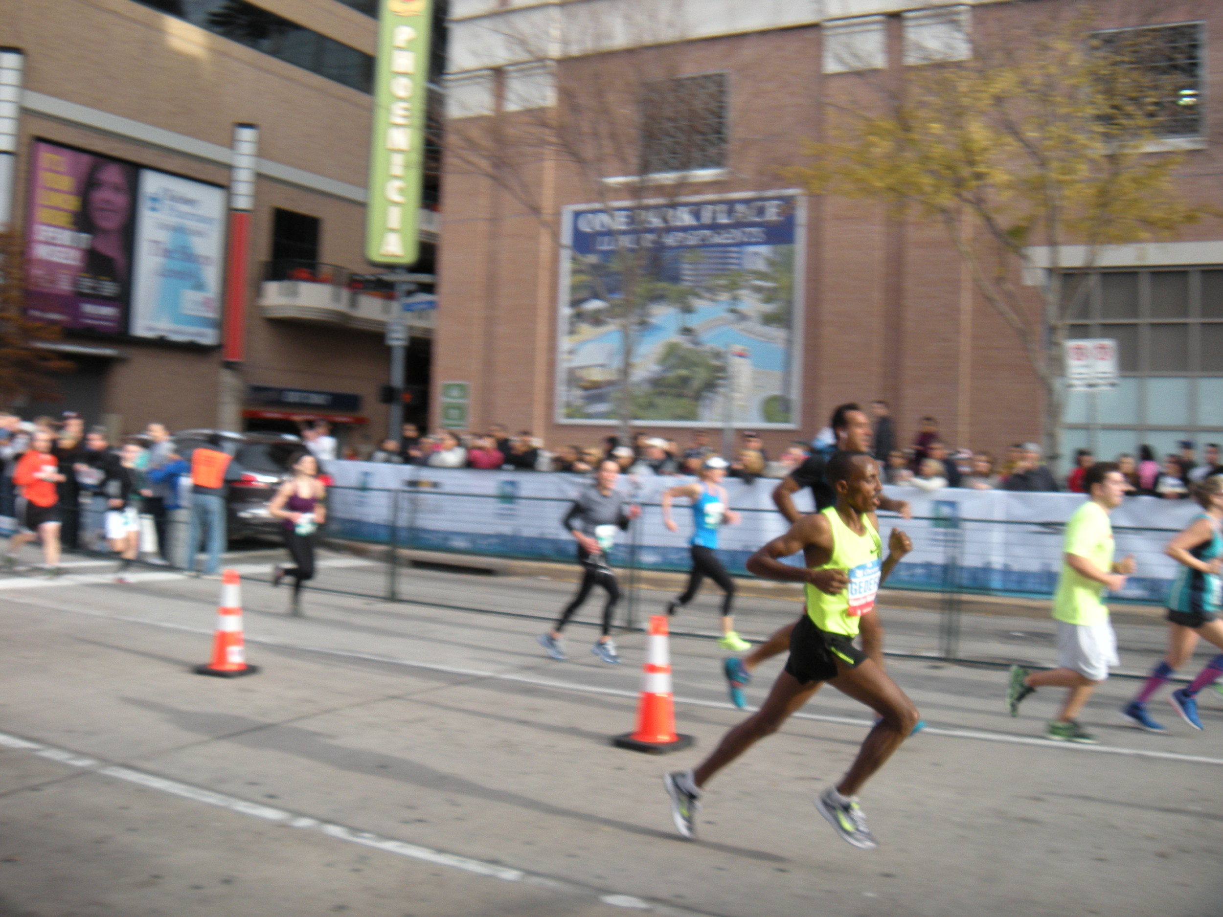 Birhanu Gidefa, winner of the Houston Marathon.  Look at that stride.  Go Ethiopia!